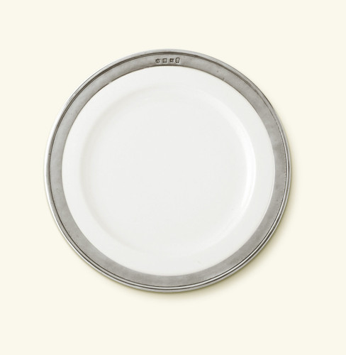 Match Pewter Convivio Dinner Plate - White