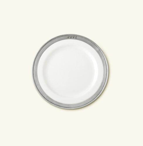 Match Pewter Convivio Salad Dessert Plate - White