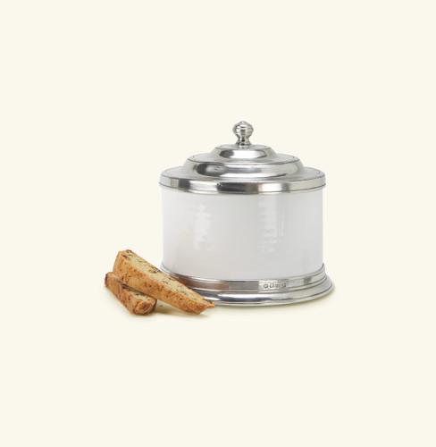 Match Pewter Convivio Cookie Jar - White