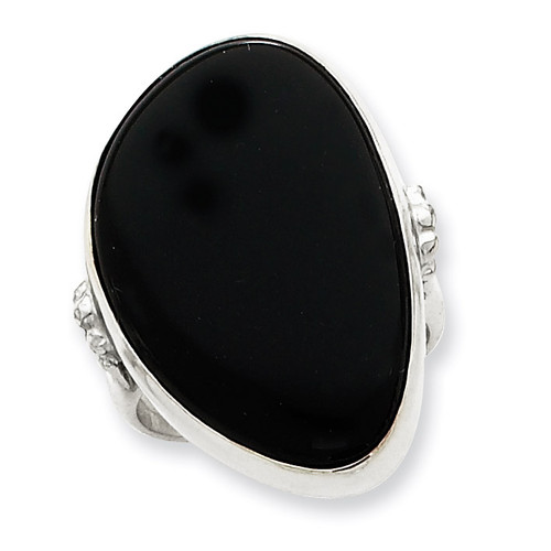 Sterling Silver Black Onyx Ring MPN: QR2337-9