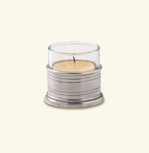 Match Pewter Tea Light Candle Holder With Glass 715.1