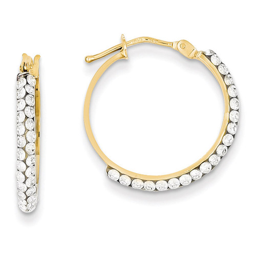 14k Gold Swarovski Elements Hoop Earrings YE1576