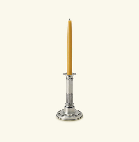 Match Pewter Round Based Candlestick 1013