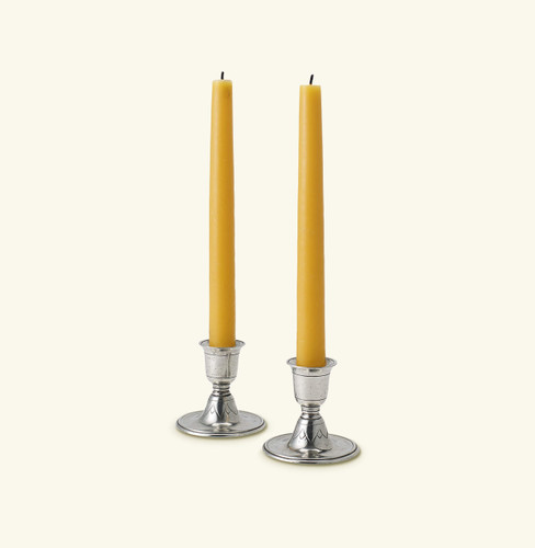 Match Pewter Short Candlestick Pair 1015