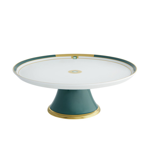 Vista Alegre Emerald Large Footed Cake Plate
