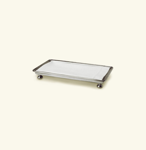 Match Pewter Footed Guest Towel Tray 1248