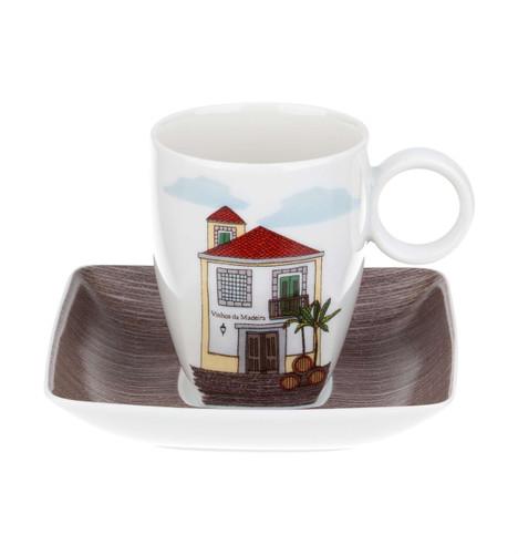 Vista Alegre Alma Da Madeira Coffee Cup & Saucer Madeira Wine