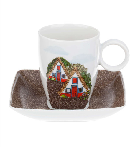 Vista Alegre Alma Da Madeira Coffee Cup & Saucer Santana House