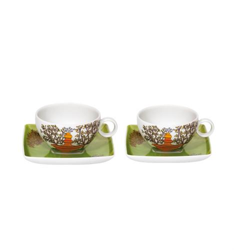 Vista Alegre Alma De Lisboa Set of 2 Tea Cup & Saucer with Gift Box