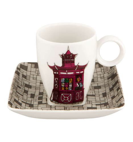 Vista Alegre Alma De Porto Coffee Cup & Saucer Quiosque