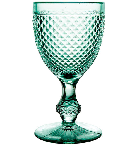 Vista Alegre Bicos Set of 4 Goblets Aqua