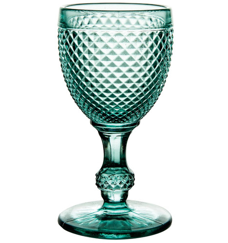 Vista Alegre Bicos Set of 4 White Wine Aqua