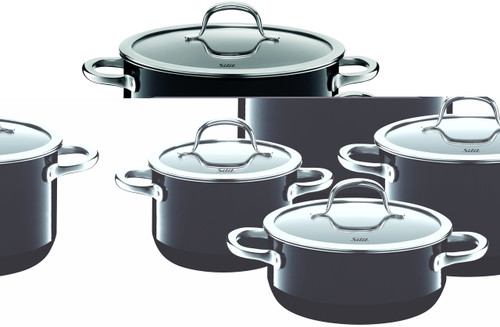Silit Passion 8-pc Cookware Set Black