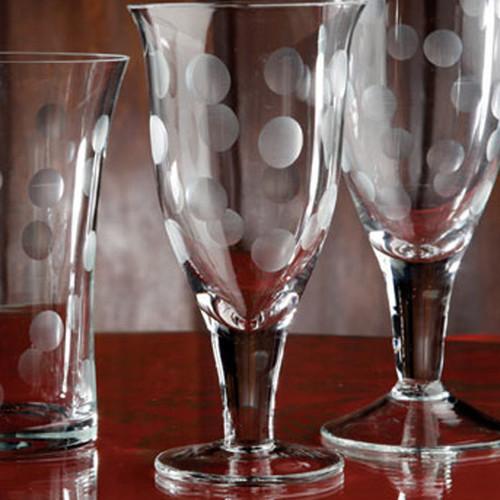Casafina Glassware Wine Stem Dots Set of 6