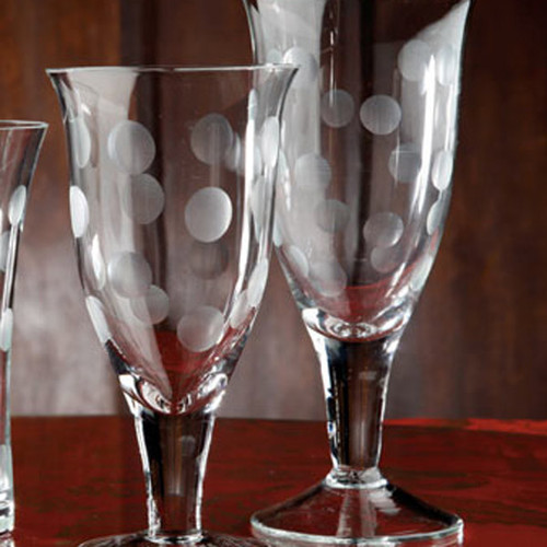 Casafina Glassware Water Stem Dots Set of 6