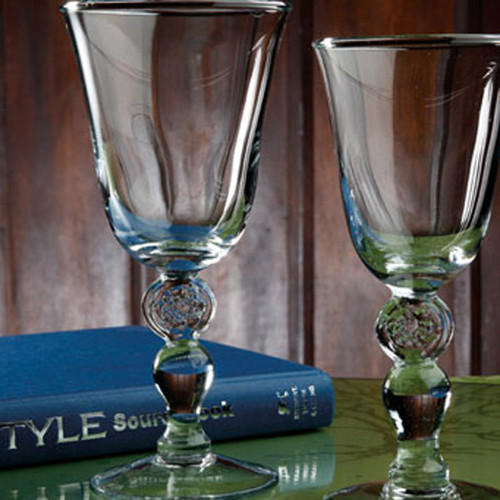 Casafina Glassware Tulip Water Stem Meridian Set of 6