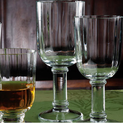 Casafina Glassware Water Stem Straight Optic Set of 6