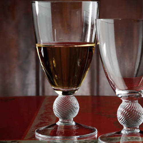 Casafina Glassware Water Stem Optic Ball Set of 6