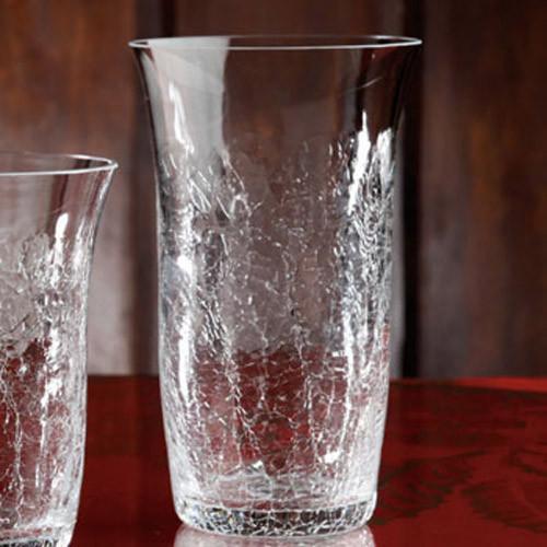 Casafina Glassware Tumbler Highball Crackle Set of 6