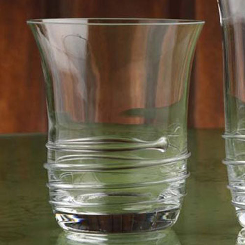 Casafina Glassware Double Old Fashion Spiral Set of 6