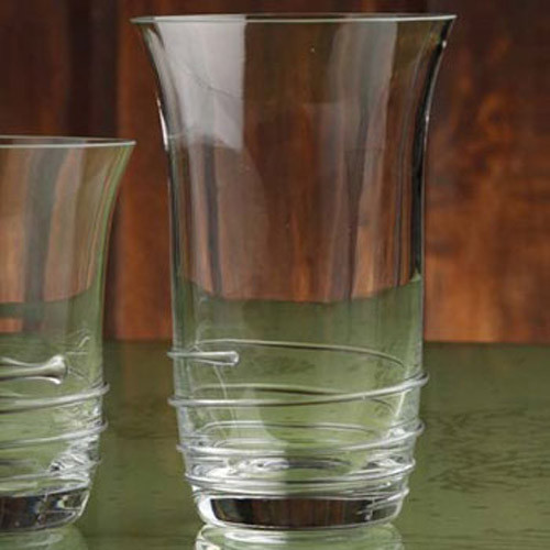 Casafina Glassware Tumbler Highball Spiral Set of 6