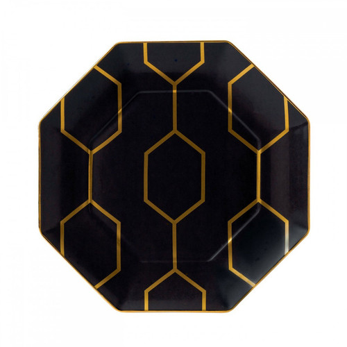Wedgwood Arris Accent Plate Octagonal 9.1 Inch Charcoal
