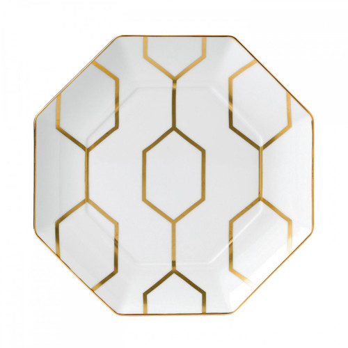 Wedgwood Arris Accent Plate Octagonal 9.1 Inch White