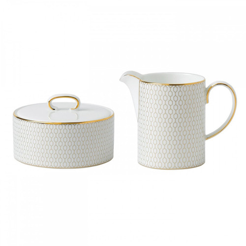 Wedgwood Arris Cream and Sugar Set