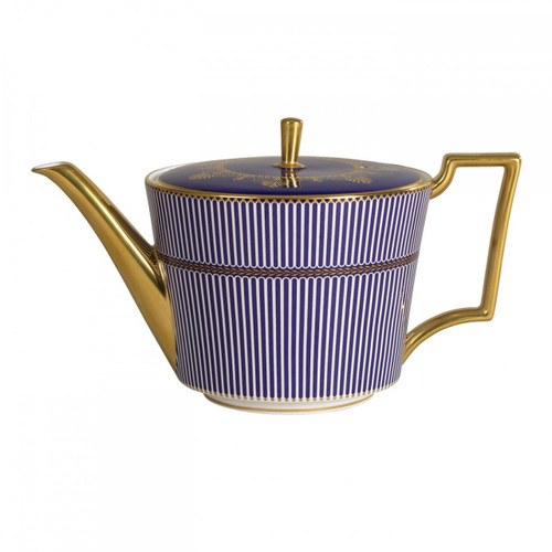Wedgwood Anthemion Blue Teapot L/S