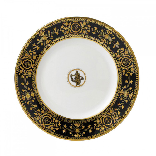 Wedgwood Astbury Black Bread and Butter Plate 7 Inch