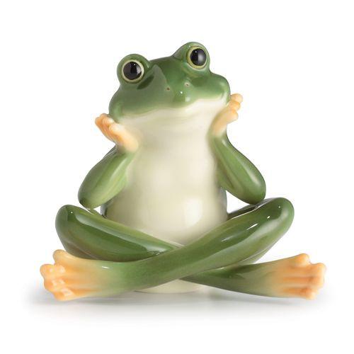 Franz Porcelain Amphibia Daydreaming Frog Figurine FZ02576