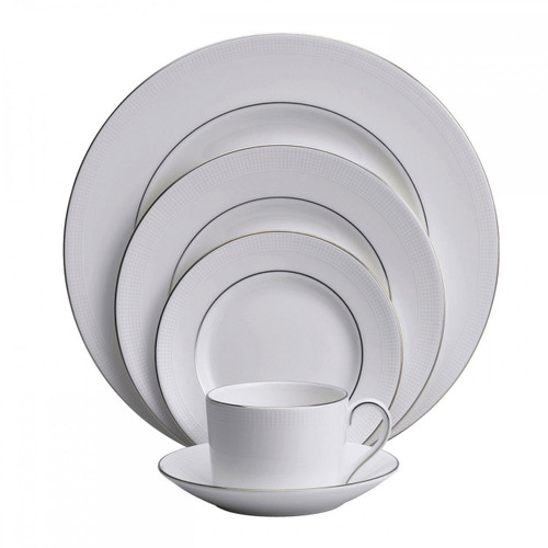 Vera Wang Blanc Sur Blanc Five 5 Piece Place Setting