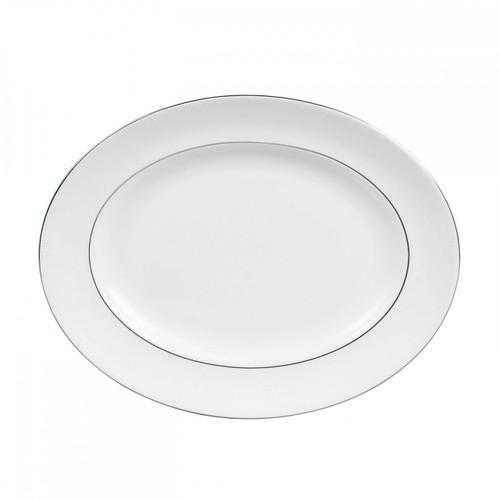 Vera Wang Blanc Sur Blanc Oval Platter 13.75 Inch