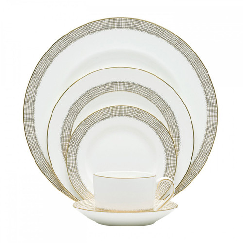 Vera Wang Gilded Weave Five 5 Piece Place Setting