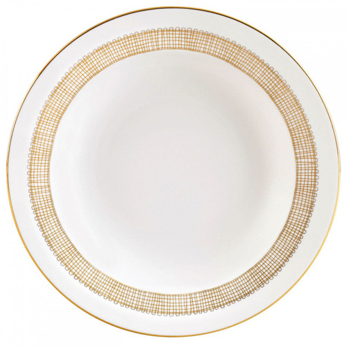 Vera Wang Gilded Weave Rim Soup Plate 9 Inch