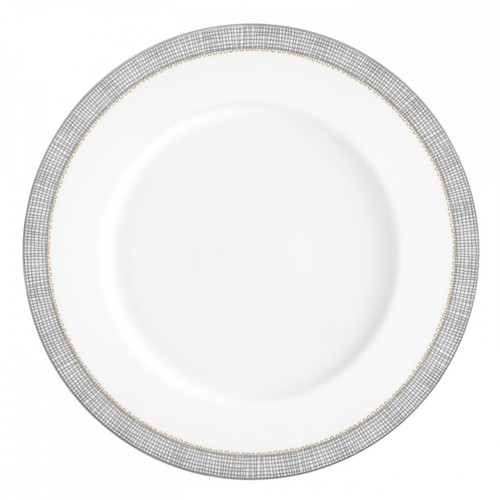 Vera Wang Gilded Weave Platinum Dinner Plate 10.75 Inch