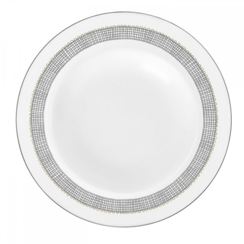 Vera Wang Gilded Weave Platinum Rim Soup Plate 9 Inch