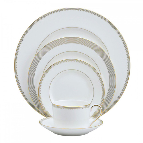 Vera Wang Golden Grosgrain Five 5 Piece Place Setting