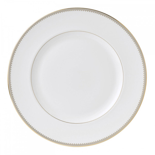 Vera Wang Golden Grosgrain Dinner Plate 10.75 Inch