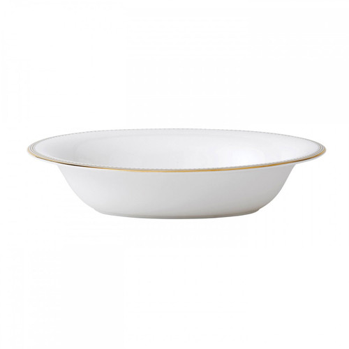 Vera Wang Golden Grosgrain Open Vegetable Bowl Oval 9.75 Inch