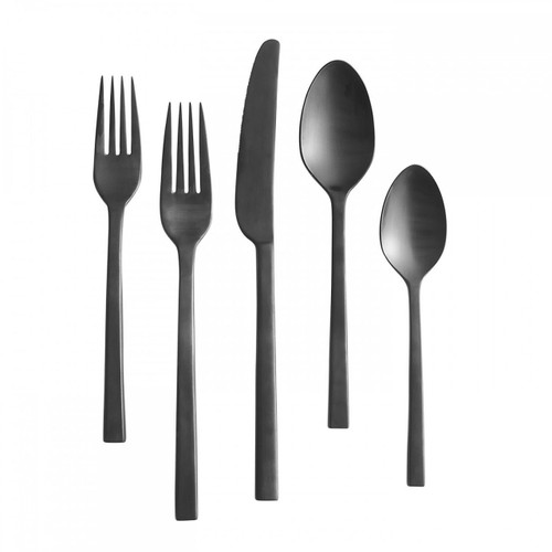 Vera Wang Polished Noir Five 5 Piece Place Setting