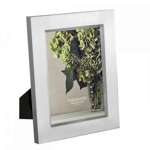 Vera Wang Satin Silver Picture Frame 5 x 7 Inch