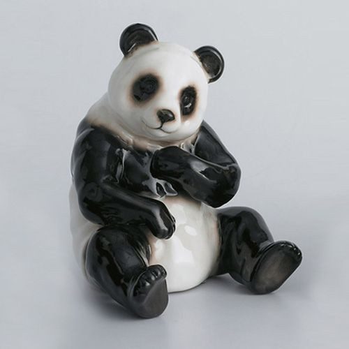 Franz Porcelain Bamboo Song Bird Panda Bear Figurine Sitting XP1001A