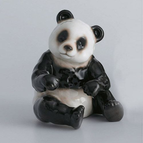 Franz Porcelain Bamboo Song Bird Panda Bear Figurine Sitting XP1001B
