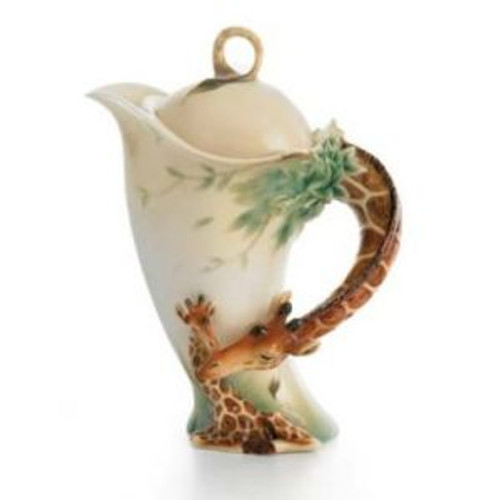 Franz Porcelain Endless Beauty Giraffe Teapot FZ00759