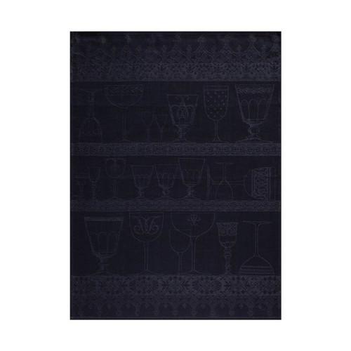 Le Jacquard Francais Cristal Slate Crystal Towel 24 x 31