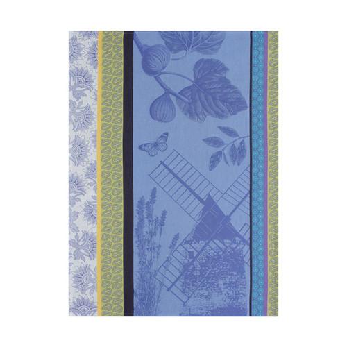 Le Jacquard Francais Terre De Provence Lavender Blue Tea Towel 24 x 31 Set of 4