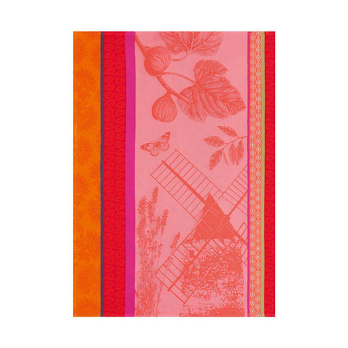 Le Jacquard Francais Terre De Provence Watermelon Tea Towel 24 x 31 Set of 4