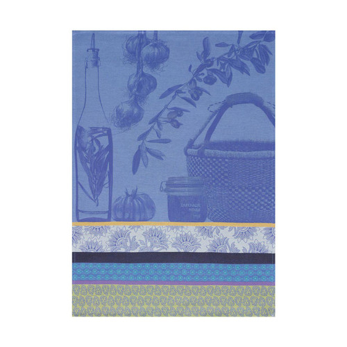 Le Jacquard Francais Saveurs De Provence Lavender Blue Tea Towel 24 x 31 Set of 4
