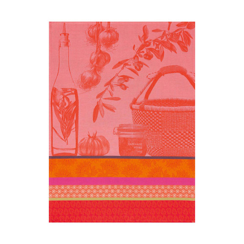Le Jacquard Francais Saveurs De Provence Watermelon Tea Towel 24 x 31 Set of 4